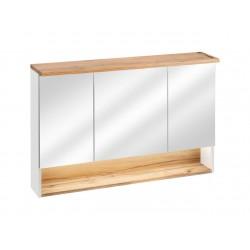BAHAMA WHITE 843 - szafka z lustrem 120 cm