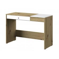 NERO 10 - biurko 120  / fronty: biały mat + uchwyt: biały