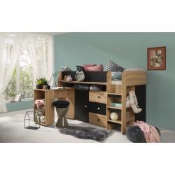 Łóżko SMART 1, front czarny mat
