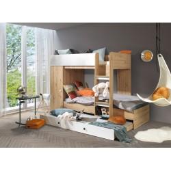 Łóżko SMART 2, front biały mat