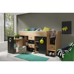 Łóżko SMART 3, front czarny mat