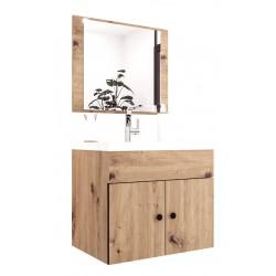 CARLOS - szafka pod umywalkę + panel z lustrem