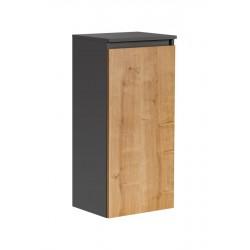 MONAKO GREY OAK 811 - szafka niska z koszem na pranie 1D