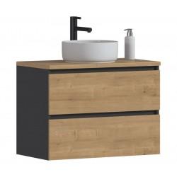 MONAKO GREY OAK 821 - szafka pod umywalkę 80 cm