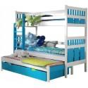 Łóżka piętrowe 3-osobowe
